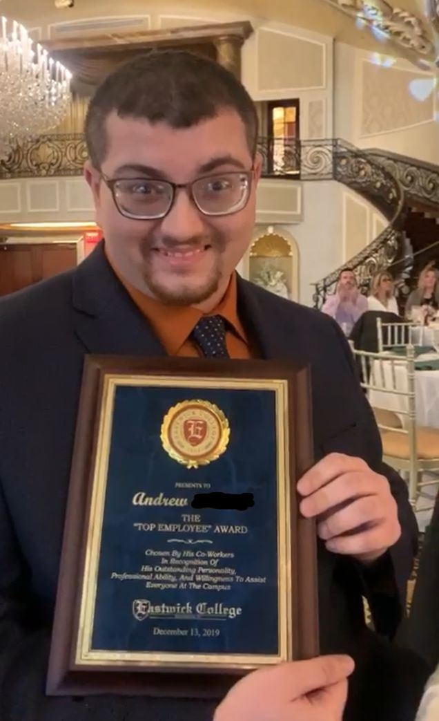 Bergen County Special Services Springboard Graduate Andrew recognized for his sucess.